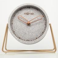 Zegar stojący 17,5x15,5 cm Nextime Cross Table szary