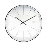 Zegar stojący 20 cm Nextime Big Stripe Mini Dome biały