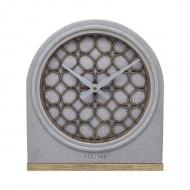 Zegar stojący 21,5x25,5 cm Nextime Concrete Love Table szary