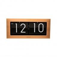Zegar stojący 36x16,5 cm Nextime Big Flip miedziany