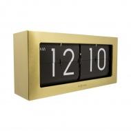 Zegar stojący 36x16,5 cm Nextime Big Flip złoty
