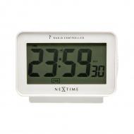 Zegar stojący 7,8x12,4x7 cm Nextime Easy Alarm Radiocontrolled biały