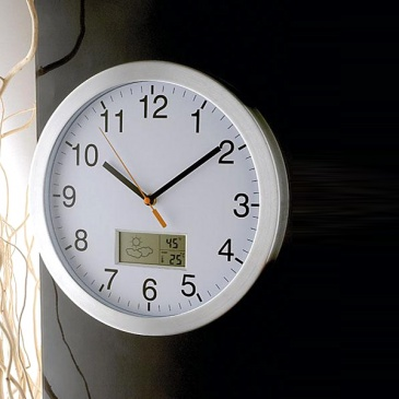 Zegar z pogodynką