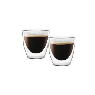 Zestaw 2 filiżanek do espresso z podwójną ścianką Amo 80 ml