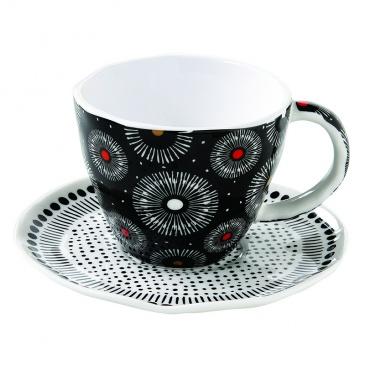 Zestaw 2 filiżanek espresso Nuova R2S Organic czarny