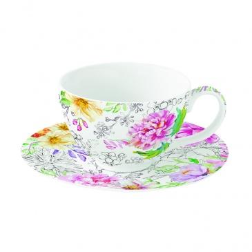 Zestaw 2 filiżanek z porcelany Nuova R2S Queen's Garden