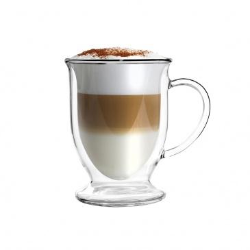 Zestaw 2 szklanek z podwójną ścianką do latte 250 ml 26421