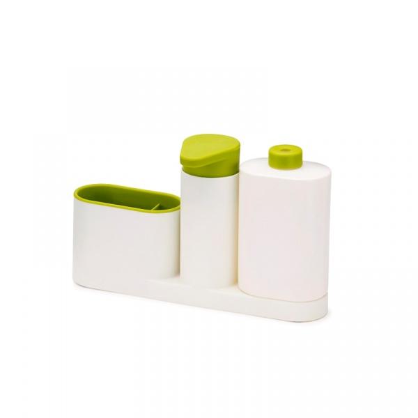 Zestaw 3 częściowy do organizera zlewu SinkBase Joseph Joseph biało-zielony 85082