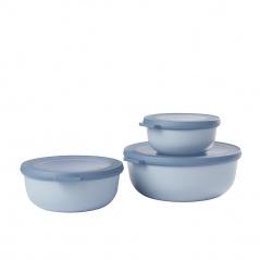 Zestaw 3 misek Cirqula 350 750 1250 Nordic Blue 106230015700