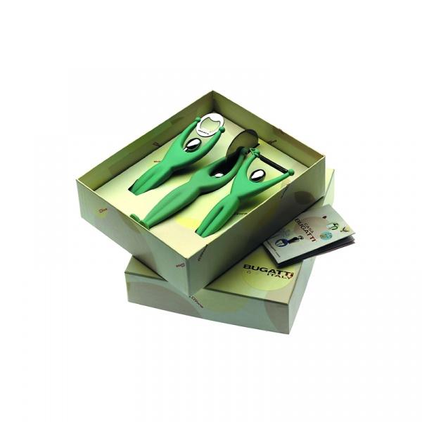 Zestaw 3 przyborów Casa Bugatti GYM zielony 32-7089/ACMU