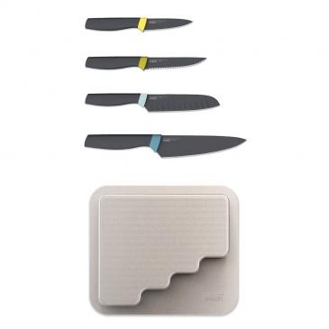 Zestaw 4 noży z blokiem do przyklejenia na drzwi Joseph Joseph Door Store
