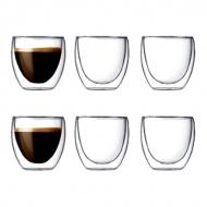 Zestaw 6 szt. szklanek izolowane 0,08 l 6 szt. Bodum Pavina