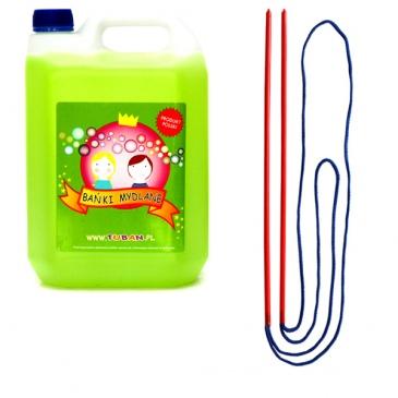 Zestaw bańki mydlane + sznurek 5l Tuban