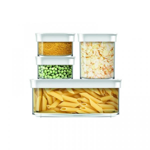 Zestaw czterech pojemników kuchennych EMSA Optima 0,18/0,18/1,0/1,6 L  EM-513564