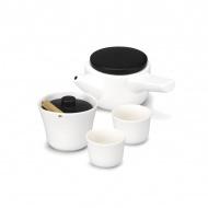 Zestaw do herbaty PO: Evo-Song biało-czarny