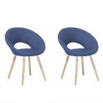 Zestaw do jadalni 2 krzesła ciemnoniebieskie Coppola BLmeble