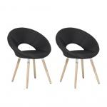 Zestaw do jadalni 2 krzesła czarne Coppola BLmeble