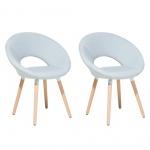 Zestaw do jadalni 2 krzesła jasnoniebieskie Coppola BLmeble