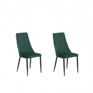 Zestaw do jadalni welwet 2 krzesła zielone Sorgente