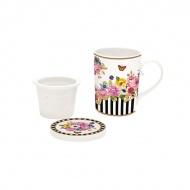Zestaw do parzenia herbaty 250ml Nuova R2S Flowers Glamour