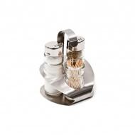 Zestaw do przypraw 11cm Eva Collection Amalfi srebrny
