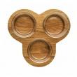 Zestaw do serwowania 3 miski i dębowa taca Sagaform Oval Oak SF-5017183