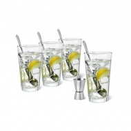 Zestaw do serwowania ginu z tonikiem Leopold Gin & Tonic przezroczysty