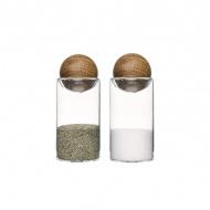 Zestaw do soli i pieprzu Sagaform Oval Oak