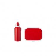 Zestaw dziecięcy bidon i lunchbox Campus czerwony 107410170100