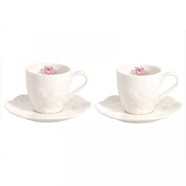 Zestaw filiżanek do espresso 2szt 0,07L Nuova R2S Jardin de Roses 1256 DERO