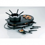 Zestaw grillowy do raclette i fondue Kela czarny