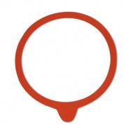 Zestaw gumek do słoika wek 94x108 mm Kela czerwony