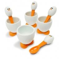Zestaw Kieliszek na jajko + łyżeczka 4szt. MSC International Gadgets
