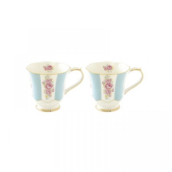 Zestaw kubków porcelanowych 2szt 0,275L Nuova R2S Heritage niebieski 1525 HEBL