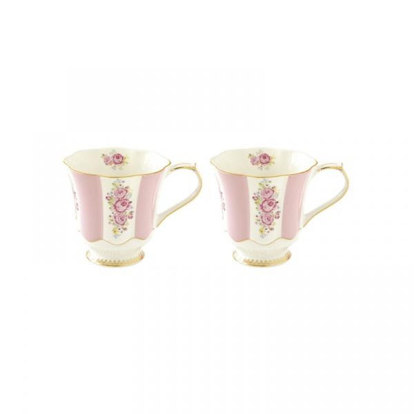 Zestaw kubków porcelanowych 2szt 0,275L Nuova R2S Heritage różowy 1525 HEPI
