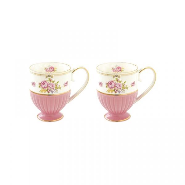 Zestaw kubków porcelanowych 2szt 0,3L Nuova R2S Heritage różowy 1523 HEPI