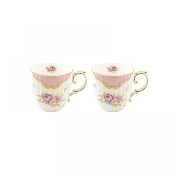 Zestaw kubków porcelanowych 2szt 0,3L Nuova R2S Heritage różowy 1528 HEPI