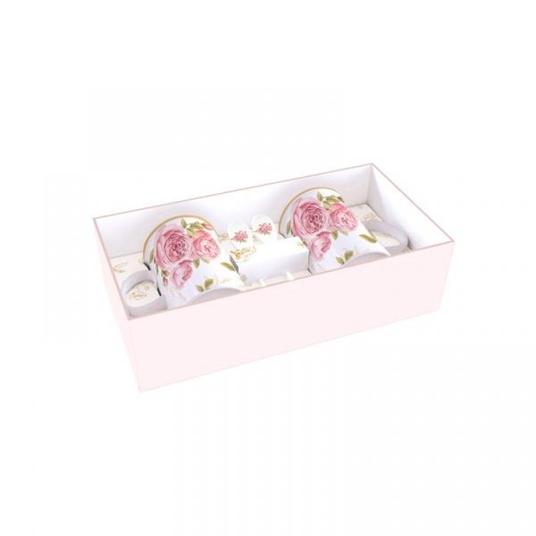 Zestaw kubków porcelanowych 2szt 0,3L Nuova R2S Romantic róże 314 CATE