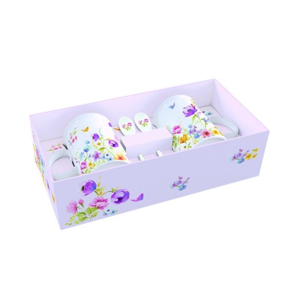 Zestaw kubków z łyżeczkami 2 szt. Nuova R2S Romantic 314 FLDC