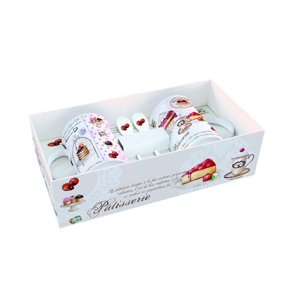 Zestaw kubków z łyżeczkami 2 szt. Nuova R2S Romantic ciasta 314 PATI