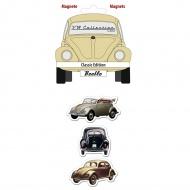 Zestaw magnesów 6x4,5x0,3 cm BRISA VW BEETLE wielokolorowe