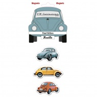 Zestaw magnesów Final 6x4,5x0,3 cm BRISA VW BEETLE wielokolorowe