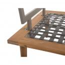 Zestaw mebli ogrodowych 4 częściowy drewno akacjowe jasnoszary FRASCATI