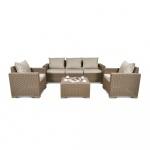 Zestaw mebli ogrodowych Bazkar 199x68x72cm California 3 Seater Cappuccino/beż