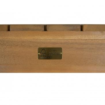 Zestaw mebli ogrodowych z certyfikowanego drewna 4-osobowy MANILA