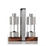 Zestaw młynków 16x16x6cm AdHoc Menage Classic srebrny