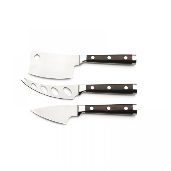 Zestaw noży do serów Legnoart Latte Vivo Wenghe CK-1DX
