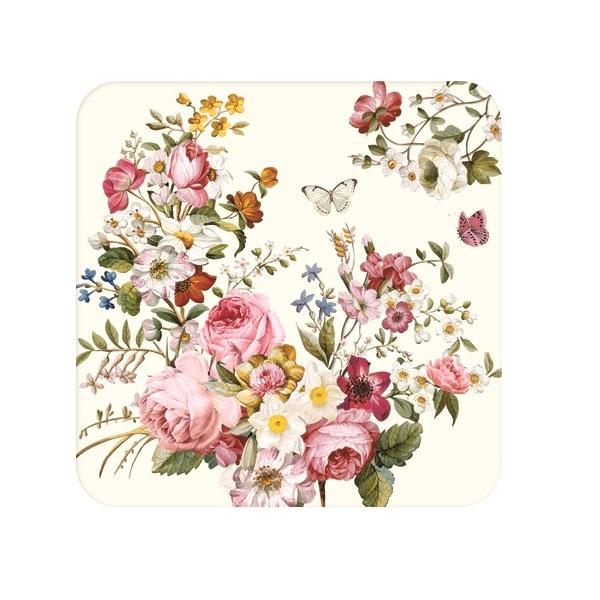 Zestaw podkładek korkowych 6szt 10,5x10,5cm Nuova R2S Blooming Opulence 952 BLOC