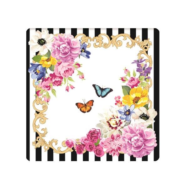 Zestaw podkładek korkowych 6szt 10,5x10,5cm Nuova R2S Flowers Glamour 952 GLUR