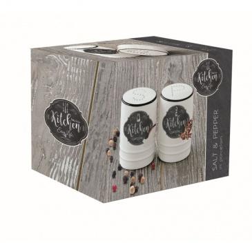 Zestaw pojemników sól i pieprz Nuova R2S Kitchen Basics